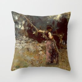 "John Singer Sargent ""A Capriote"" Throw Pillow"