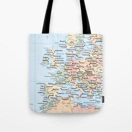 World Map Europe Tote Bag