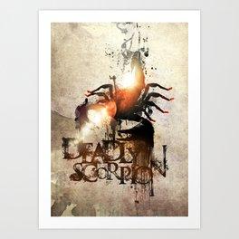 Deadly Scorpion Art Print