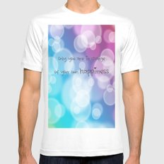 Charisma Bokeh White MEDIUM Mens Fitted Tee