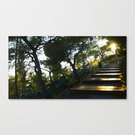 Path to Lycabettus  Canvas Print
