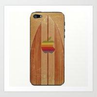 surfboard Art Prints featuring Surfboard by Laure.B