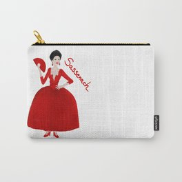 Sassenach in red dress (Outlander) Carry-All Pouch