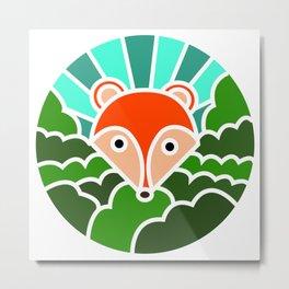 Fox of the woods mosaic Metal Print