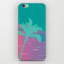 80's beach dreams iPhone Skin