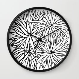Simple Plants IV Wall Clock