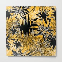 Yellow Chaos Metal Print