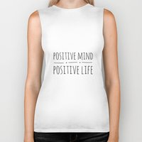 positive Biker Tanks featuring Positive Mind, Positive Life by Michelle Boccia