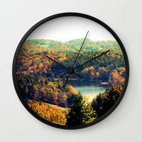 trout Wall Clocks featuring Trout Lake by Lindsay Isenhour