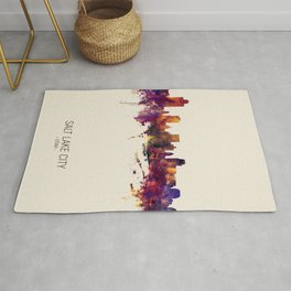 Salt Lake City Utah Skyline Rug