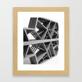 geometric leaf Framed Art Print