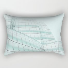 Urban Turquoise Architecture Rectangular Pillow