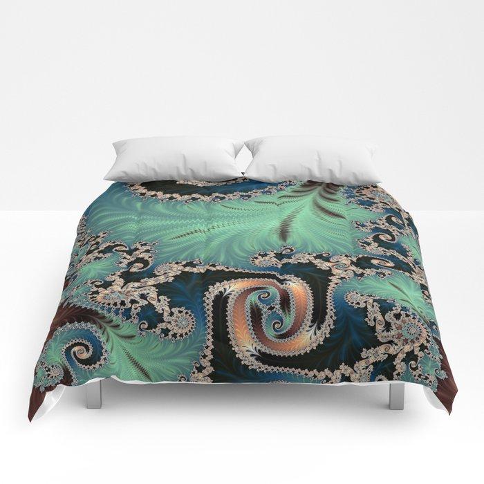 Azure - Fractal Art Comforters