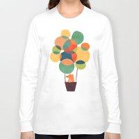hot air balloon Long Sleeve T-shirts featuring Whimsical Hot Air Balloon by Picomodi