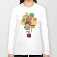 hot Long Sleeve T-shirts featuring Whimsical Hot Air Balloon by Picomodi