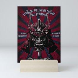 Samurai Art Mask, Miyamoto Musashi Quotes Art Mini Art Print