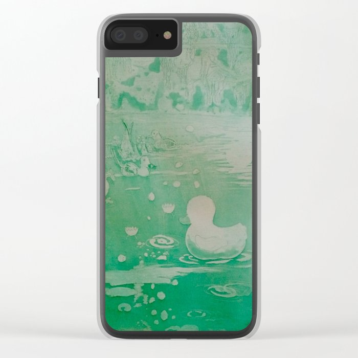 MoonSea Fantasy lightgreen Clear iPhone Case