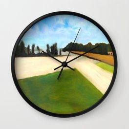 Landscape Series - Partly Cloudy Wall Clock