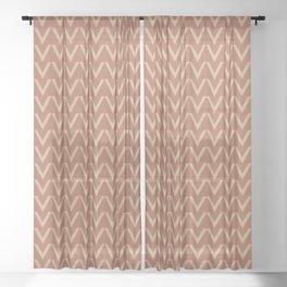 Ligonier Tan SW 7717 V Shape Horizontal Lines on Cavern Clay SW 7701 Sheer Curtain