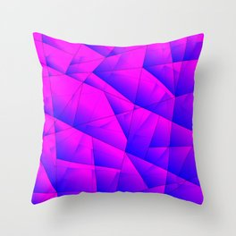 Pattern of purple and lilac triangles and irregularly shaped lines. Throw Pillow