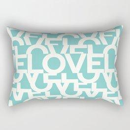 Hidden blue LOVE message Rectangular Pillow