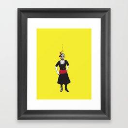 Angry Liz Framed Art Print