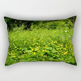 Yellow Wild Flower Patch Rectangular Pillow