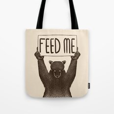 Feed Me Bear Tote Bag