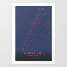 Bunker Hill, United States - Neon Art Print
