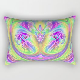 Psychedelic Alien Life Rectangular Pillow