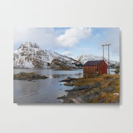 The Red Shed Panorama Metal Print