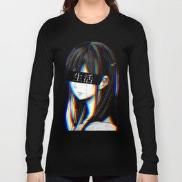 ART - SAD JAPANESE ANIME AESTHETIC Long Sleeve T-shirt