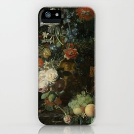 Jan van Huysum - Still life with flowers and fruits (1721) iPhone Case