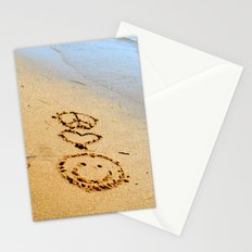 Peace Love and Happiness Stationery Cards