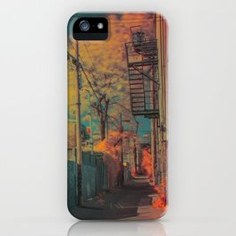 Montreal Alley Infrared 01 iPhone Case