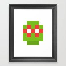 hero pixel green red Framed Art Print