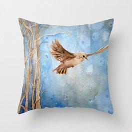 Snow Wanderer Throw Pillow