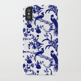 Royal french navy peacock iPhone Case