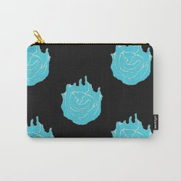 Neon  Roses (blue) Carry-All Pouch