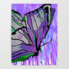 BUTTERFLY MOSAIC PURPLE DREAM Poster