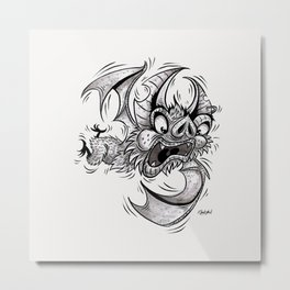 Bat (Failing at Life) Metal Print