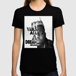 Urban Biggie Smalls Lyrics/Text Font T-shirt