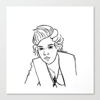 harry styles Canvas Prints featuring Harry Styles by Rosalia Mendoza