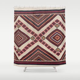 Qashqa'i  Antique Fars Persian Kilim Print Shower Curtain