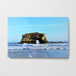 Ocean Arches at Natural Bridges Metal Print