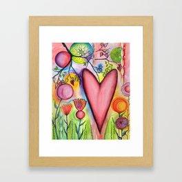 Many Hearts Heal Framed Art Print