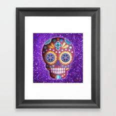 Magenta Skull Framed Art Print
