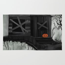 Haunted House and Jolly Pumpkin Rug