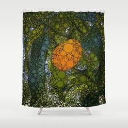 Kumquat Mosaic Shower Curtain