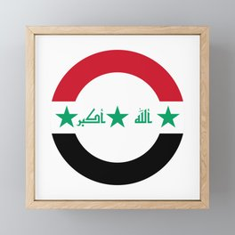 Roundel of Iraqi Air Force  Framed Mini Art Print